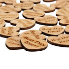 50pcs Vintage Wooden Love Heart Table Confetti Scatter Wedding Decoration Craft