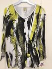 Jess and Jane Citron Black and Yellow Shirt Size New with Tags