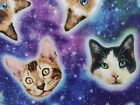 Galaxy Space Cats Fabric Timeless Treasures Quilting Sewing Cotton FQ BTHY BTY