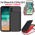 External Battery Charger Case Skin Cover Power Bank for iPhone X 6 6S 7 8 Plus