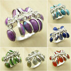 925 Silver Plated Over Solid Copper, PURPLE COPPER TURQUOISE & Other Stone Ring
