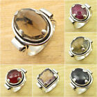 VARIATION TO PICK ! 925 Silver Plated SMOKY QUARTZ & Other Gemstone Gift Ring