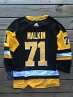 NWT Evgeni Malkin 71 Pittsburgh Penguins NHL Hockey Black Stitched Jersey Mens