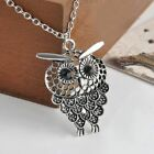 Jewelry Gift Bijoux Long Chain Owl Pendant Necklace Hollow Out Sweater Chain