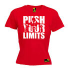 Ladies Gym Push Your Limits bodybuilding workout training funny Birthday T-SHIRT