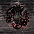 Steampunk Owl Gears and Cogs Wall Clock Mechanical Fish Vinyl Record Wall Clock