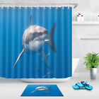 Great White Shark Fabric Shower Curtain Set 71