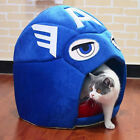 Captain America Cute Cat House Dog Portable Warm Plush Pet Cave Bed Puppy Bed