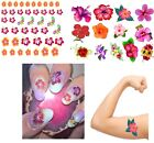 Hibiscus  Collection Nail Art - Temporary Tattoos  -