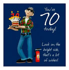 YOU'RE 70 Today Male Birthday Greetings Card Wishes ~ Fun & Quirky ~ FREE DEL