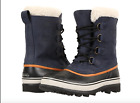 Sorel Mens 11.5 Caribou Leather Wool Boot Removable Liner Snow WL Nocturnal
