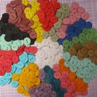 "Hand Dyed 5/8"" Round BUTTONS, 2 Holes, Assorted Colors, Lots of 20 or Mixed 40"