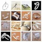 *UK* 925 SILVER PLT ADJUSTABLE P 1/2 SIZE RING LADIES GIFT THUMB TOE OPEN FINGER