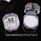 10 or 20 Crystal Clear Ring Box Jewelry Gift Boxes Case Tray White Inside