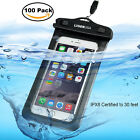 100x Waterproof On Bag Touch Screen Case Cover For iPhone Samsung Cell Phone