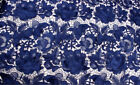 Guipure Bridal Costume Lace Fabric Floral Embroidery Wedding Gown DIY Trim 0.5 Y