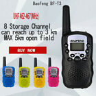 2Pcs Baofeng BF-T3 UHF462-467MHz 8 Channel Portable Two-Way 10 Call Tones Radio