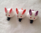 Girls' Handmade Japanese Hair Clip Bunny with Pink Purple Ea