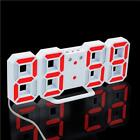 3D LED Wall Clock Modern Digital Alarm Clocks Display Home Kitchen Office Table
