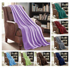 Throw Blanket Soft Lightweight Cozy Fleece For Sofa Couch 50 x 60 inches Solid image