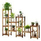 WOODEN SHELF PLANT STAND LADDER BOOK SHELF STORAGE ELEGANT MULTI CHOICE AND USE