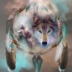 5D DIY Diamond Painting Dream Catcher Wolf, Full Cover, Square Tile #02