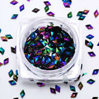 1 Box 3D Nail Art Rhinestones Flat Shaped Elongated Glass Colorful Stones Decor