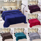 Solid Plush Fleece Blanket For Sofa Bed Soft Lightweight Large Throw King/Queen image