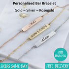 Personalised Engraved Jewellery Bangle Bracelet - Gold Silver Rose Gold -giftbox