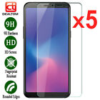 5Pcs Tempered Glass Screen Protector For Samsung Galaxy A5 A7 A6 A8 A30 A40 A50