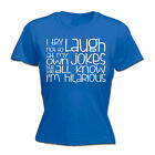 Womens Funny T Shirt I Try Not To Laugh At My Jokes Birthday tee Gift T-SHIRT