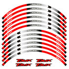 """For YAMAHA TMAX 500 530 15"""" CUSTOM OUTER RIM STRIPES WHEEL DECALS TAPE STICKERS"""