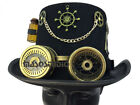 Black Gold Steampunk Eyeball Goggles key Medical TOP Hat Halloween Costume Party