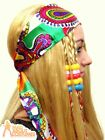 1960s Fun Print Headscarf Hippy 70s Hippie Ladies Fancy Dress Accessory