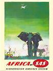 97915 Africa By Clipper Elephant African Travel Decor WALL PRINT POSTER UK
