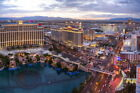 101586 Elevated View Las Vegas Strip After Sunset Decor WALL PRINT POSTER CA