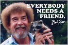 101002 Bob Ross Everybody Needs A Friend Quote Decor WALL PRINT POSTER UK