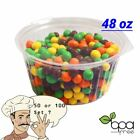 48oz Heavy Duty Round Deli Food/Soup Clear Container Cups w/ Lids BPA free DD
