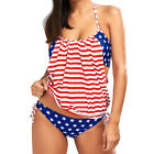 2pc. Sexy American Flag Red White Blue Patriotic Push Up Swimsuit Set S-L