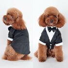 Pet Dog Cat Clothing Prince Wedding Suit Tuxedo Bow Tie Puppy Clothes Coat USA