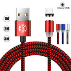 Braided Magnetic Lightning+ USB Charger Charging Cable For iPhone Samsung Type-C