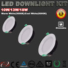 RECESSED 10W/13W/18W LED DOWNLIGHTS KIT DIMMABLE WARM/COOL WHITE 5 YRS WARRANTY