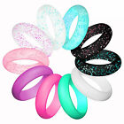 10 Pcs Women Silicone Wedding Ring Rubber Band Modern Durable Comfortable
