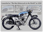 88236 Triumph Bonneville Motorcycle Wall Art Sign Decor WALL PRINT POSTER DE €16.95 EUR on eBay