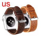 Replacement Genuine Leather Watch Strap Band for Apple Watch Series 3/2/1 Women image