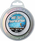 Savage Gear Soft Fluorocarbon Leader - Pike Perch Bass Sea Fishing Line Tackle