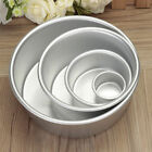 2/4/6/8'' Aluminum Alloy Round Cake Pan Tins Baking Mould Bakeware Tray RDR