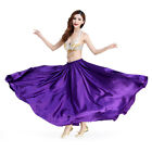 Belly Dance Satin Full Circle Halloween Skirt Shiny Ankle Length Bohemian Skirt