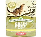 JAMES WELLBELOVED POUCHES - (85g x 12) - Grain Free Wet Adult Cat Food bp Feed