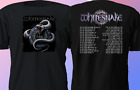 New Tour 2018 Whitesnake US Summer Concert Rock Band Black T-Shirt S-4XL